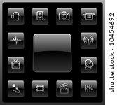 vector media icon set | Shutterstock .eps vector #10454692