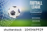 football game match goal moment ... | Shutterstock .eps vector #1045469929