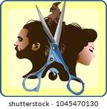beauty hair salon man woman...   Shutterstock .eps vector #1045470130