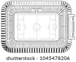 football soccer stadium vector...   Shutterstock .eps vector #1045478206