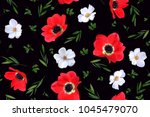 seamless floral pattern with... | Shutterstock .eps vector #1045479070