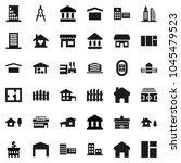 flat vector icon set  ... | Shutterstock .eps vector #1045479523