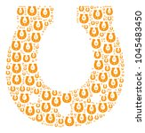 horseshoe collage organized in... | Shutterstock .eps vector #1045483450