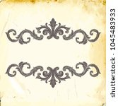 retro baroque decorations... | Shutterstock .eps vector #1045483933