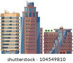 modern cartoon buildings. set  6 | Shutterstock .eps vector #104549810