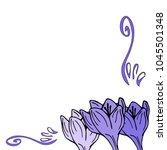 crocus decoration postcard... | Shutterstock .eps vector #1045501348