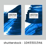 set of vector business card... | Shutterstock .eps vector #1045501546