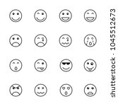 simple emoticon set | Shutterstock .eps vector #1045512673