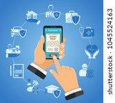 concepts online insurance... | Shutterstock .eps vector #1045524163