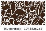 floral pattern for die or laser ... | Shutterstock .eps vector #1045526263