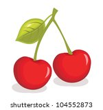cherry illustration | Shutterstock . vector #104552873