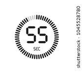the 55 seconds  stopwatch... | Shutterstock .eps vector #1045528780