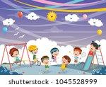 vector illustration of kids... | Shutterstock .eps vector #1045528999