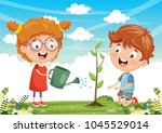 vector illustration of kids... | Shutterstock .eps vector #1045529014
