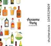 vector background with... | Shutterstock .eps vector #1045529809