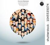 vector flat illustration of... | Shutterstock .eps vector #1045535074