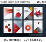 creative design of brochure set ... | Shutterstock .eps vector #1045536610