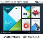 creative design of brochure set ... | Shutterstock .eps vector #1045536616