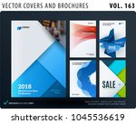 creative design of brochure set ... | Shutterstock .eps vector #1045536619