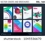 set of design brochure ... | Shutterstock .eps vector #1045536670