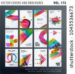 creative design of brochure set ...   Shutterstock .eps vector #1045536673