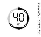 the 40 seconds  stopwatch... | Shutterstock .eps vector #1045537816