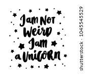 hand drawn lettering phrase  i... | Shutterstock .eps vector #1045545529