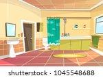 vector cartoon bathroom... | Shutterstock .eps vector #1045548688