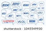 lol speech bubbles sketch set... | Shutterstock .eps vector #1045549930