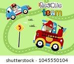 cartoon of rescue team | Shutterstock .eps vector #1045550104