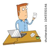 working with laptop | Shutterstock .eps vector #1045550146