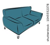 sofa furniture vector isolated... | Shutterstock .eps vector #1045552378