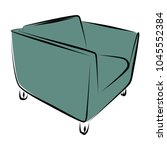 sofa furniture vector isolated... | Shutterstock .eps vector #1045552384