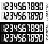electronic figures. digital... | Shutterstock .eps vector #1045557400