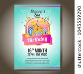 birthday party invitation theme ... | Shutterstock .eps vector #1045559290