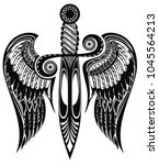 icon  of ancient sword | Shutterstock .eps vector #1045564213