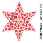 fireworks star pattern...   Shutterstock .eps vector #1045566448