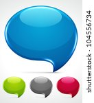 abstract glossy speech bubbles...