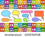funny colorful emotions and... | Shutterstock .eps vector #104556938