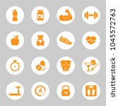 health and fitness icons.... | Shutterstock .eps vector #1045572763