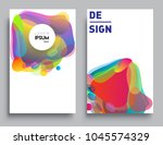 covers templates set with... | Shutterstock .eps vector #1045574329