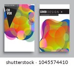 covers templates set with... | Shutterstock .eps vector #1045574410
