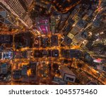 aerial view of central district ... | Shutterstock . vector #1045575460