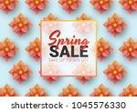 spring sale floral advertizing... | Shutterstock .eps vector #1045576330