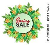 spring sale floral advertizing... | Shutterstock .eps vector #1045576333
