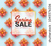 spring sale floral advertizing... | Shutterstock .eps vector #1045576336