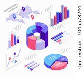 isometric infographic elements... | Shutterstock .eps vector #1045578244