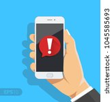 phone notifications  new... | Shutterstock .eps vector #1045585693