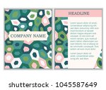 branding identity template with ... | Shutterstock .eps vector #1045587649