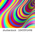 colorful fluid curved lines... | Shutterstock .eps vector #1045591498